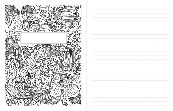 printable planner bonus adult coloring page notebook cover 2