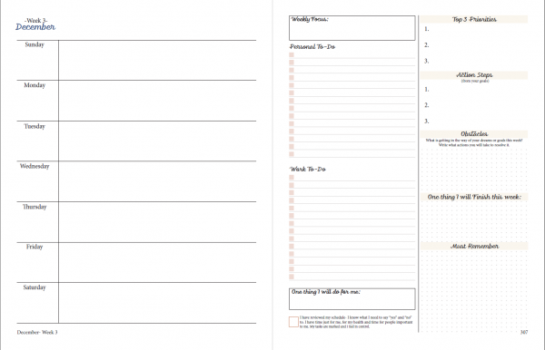 printable planner week view